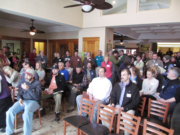 Dozens of chefs and farmers turned out for the 'Increasing Local Food in Restaurant Menu' conference on March 26 at the Dunham's Bay Resort at Lake George.