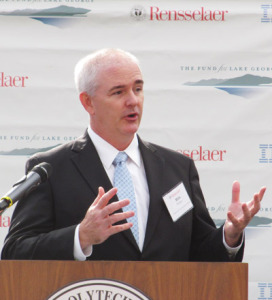 Dr. Rick Relyea, newly named as Rensselaer Polytechnic Institute's director for the Jefferson Project on Lake George.