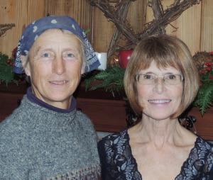 Bernice Ende, left, and her Fort Edward host for the winter, Darleen Lundgren. Chronicle photo/Gordon Woodworth