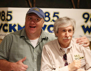 Dan Miner and Pete Cloutier have been the morning drive time team on WCKM 98.5 FM for more than 17 years. Photo provided