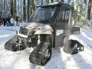 Friends of Cole's Woods spiffy new trail groomer. Chronicle photo/Mark Frost