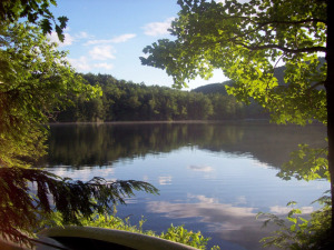 In West Fort Ann, the 80-acre Lakes Pond is contained within the 443-acre Camp Little Notch property. Friends of Camp Little Notch needs to raise $16,000 by Friday, Jan. 9, to buy the former Girl Scout camp. Photo provided