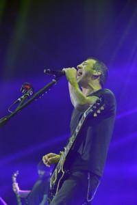 Godsmack packed the Civic Center. Lead singer Sully Erna. Chronicle photo/Andrzej Pilarczyk