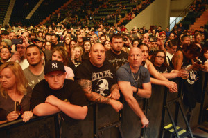 Metal heads ready for the show, May 7 at the Glens Falls Civic Center. Chronicle photo by Andrzej Pilarczyk