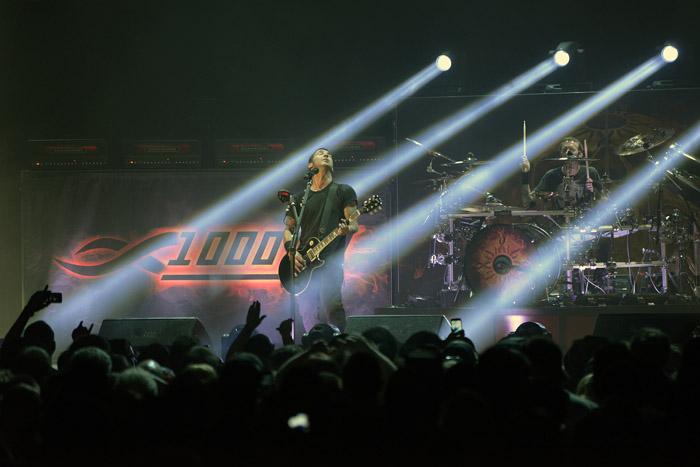 Godsmack lights up the Glens Falls Civic Center, last Wednesday. Chronicle photo by Andrzej Pilarczyk