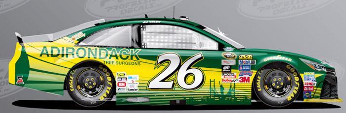 Adk. Tree Surgeons NASCAR car