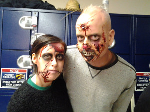 Ghoul for a day. Chronicle writer Jason Irwin and his girlfriend Tiffany Martindale, decked out by The Great Escape for its FrightFest.