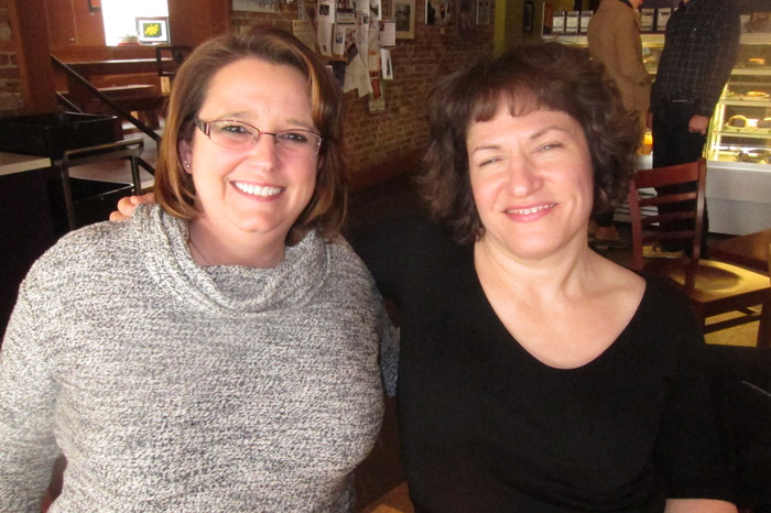 """Erica Fenton (left) and Joy Kaczmarek, both of Glens Falls, have successfully fought mental illness. They will share their stories in a theatrical event at the Wood Theater on May 28 that aims to """"put a face"""" on mental illness and destigmatize those who suffer from it and their families."""