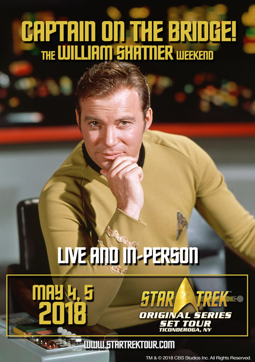 William shatner star treks captain kirk will come to ti event mr cawley has recreated in a ticonderoga downtown storefront the original star trek enterprise set from specs directly from the show m4hsunfo