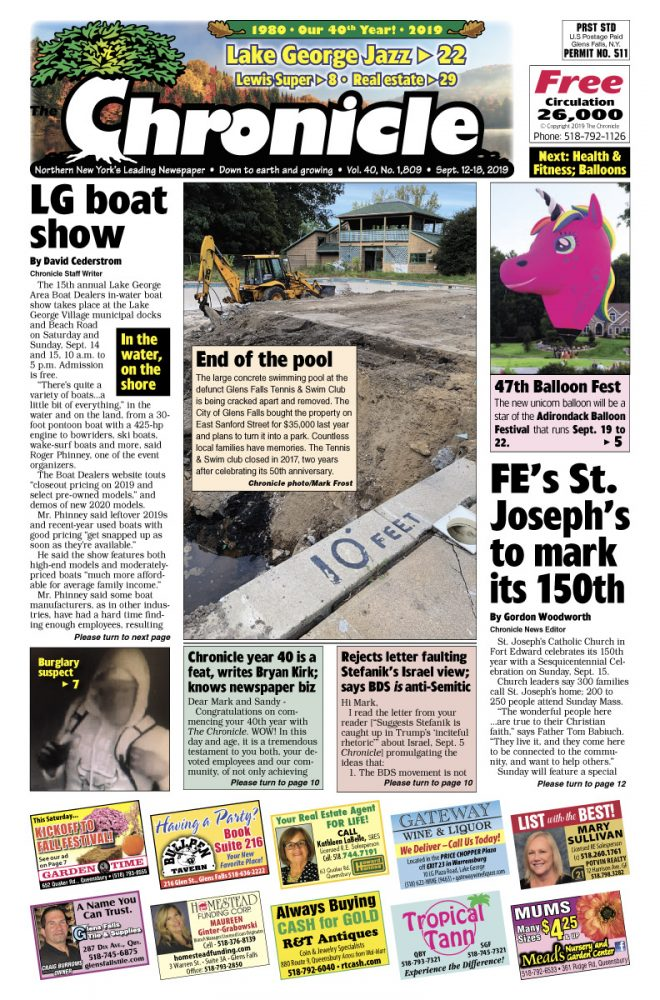 Our September 12 issue