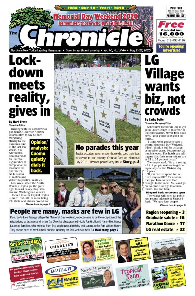 Our May 21 front page