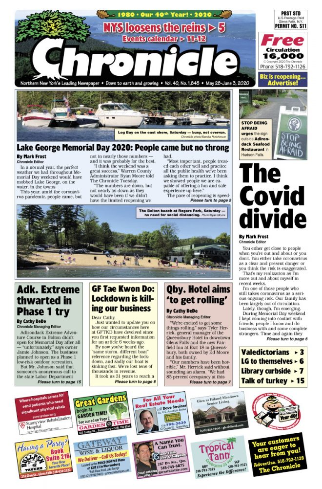 Our May 28 front page